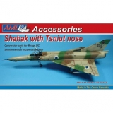 Shahak with Tsniut nose + exhaust nozzle Conversion parts; 1:48