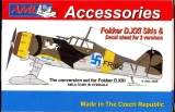 Fokker D.XXI Skis + Decals for 2 ver., conversion set ; 1:72
