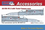 IAI Kfir RC-2 with Tsniut camera nose PUR Conversion parts; 1:72