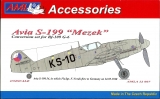 "Avia S-199 ""Mezek"" KS-10; Conversion set for Bf-109 G-6; 1:32"