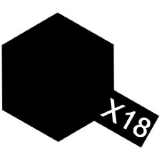 X-18 - Black semi gloss acryl mini 10 ml