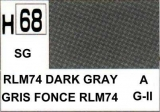H68 RLM74 Dark Grey Semigloss 10 ml