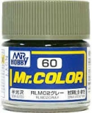 C60 Mr.Color RLM02 Grey semigloss; German aircraft WWII; 10 ml