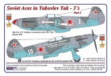 Dekály Soviet Aces in Yakovlev Yak-3 Part I; 2 ks.; 1:72