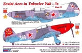 Dekály Soviet Aces in Yakovlev Yak-3 Part II; 2 ks.; 1:72