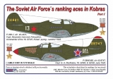 Dekály Soviet Aces in Kobras/2 ks  P-39 Part I; 2 ks.; 1:72