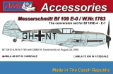 Messerschmitt BF 109E-0/W.Nr.1783 Conversion parts; 1:48