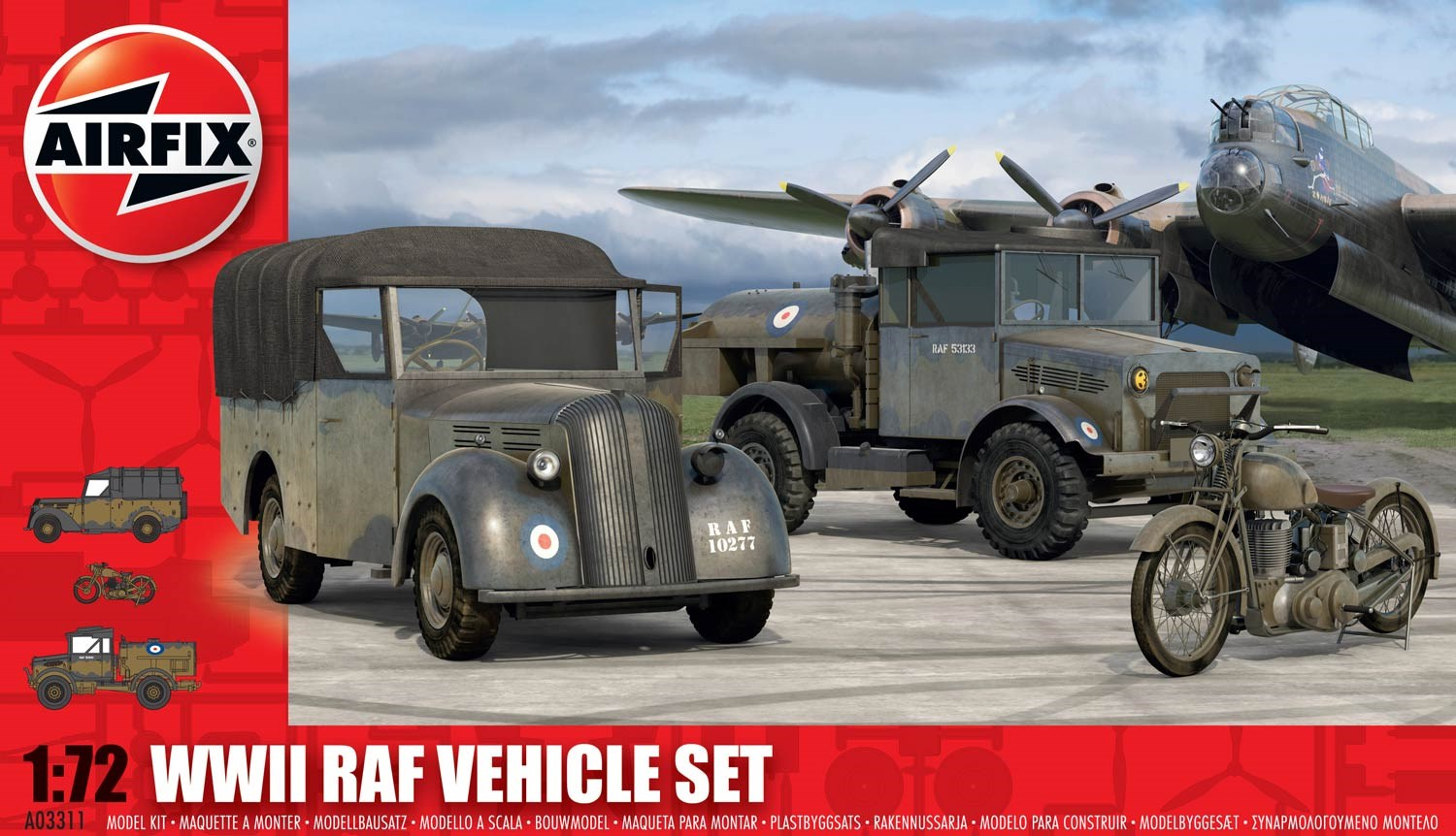 WWII RAF Vehicle Set; 1:72
