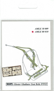 P-E diely Seat belts RAF WWII Gloster Gladiator; 1:72