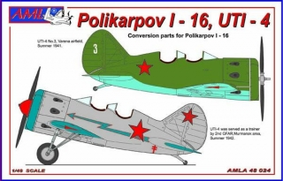 Polikarpov I-16, UTI-4 RUS, PUR conversion set+decals; 1:48