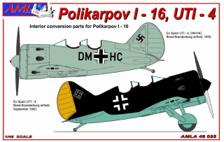Polikarpov I-16, UTI-4 GER, PUR conversion set+decals; 1:48