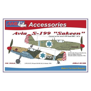 "Avia S-199 ""Sakeen"", PUR conversion set + P-E + decals; 1:48"