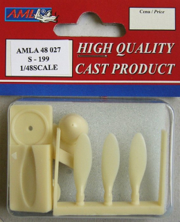 Avia S-199 propeller with tool, PUR conversion set; 1:48