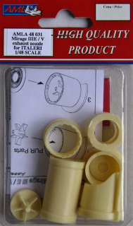 Mirage IIIE/V exhaust nozzle for Italeri; 1:48