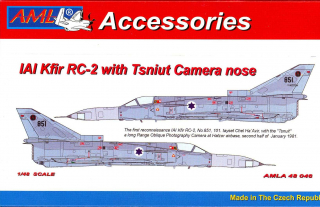 IAI Kfir RC-2 with Tsniut nose PUR Conversion parts; 1:48