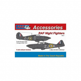 RAF night fighters - 6 stub exhaust versions  Part I, conversion set; 1:48