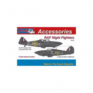 RAF night fighters - 6 stub exhaust versions  Part II, conversion set; 1:48