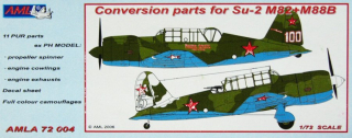 Sukhoy Su-2 M82+M88B Conversion parts; 1:72