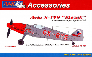 "Avia S-199 ""Mezek"" OK-BYE; Conversion set for Bf-109 G-6; 1:32"