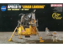 "Apollo 11 ""Lunar Landing""; CSM Columbia + LM Eagle 1:72"
