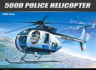 Huhges 500D Police helicopter + motocycle; 1:48