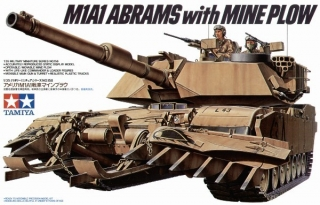 M1A1 ABRAMS with Mine Plow; 1:35