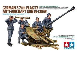 German Flak37 Anti-Aircraft with Crew; 1:32