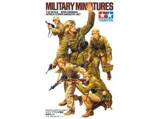 WWII German Africa Corps Infantry Set; 1:35