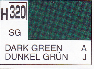 H320 Dark Green Semigloss 10 ml