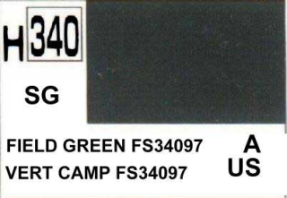 H340 FS34097 Field Green Semigloss 10 ml