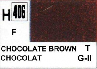 H406 Chocolate Brown Flat 10 ml