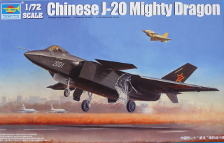 Chinese J-20 Mighty Dragon; 1:72