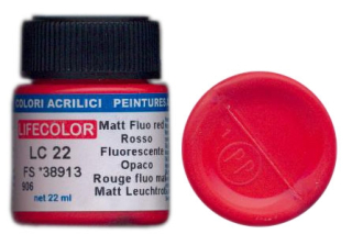 LC 22 Matt Fluo red; acrylic 22 ml