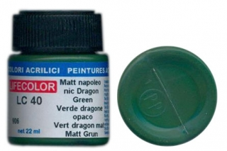 LC 40 Matt napoleonic Dragon Green; acrylic 22 ml