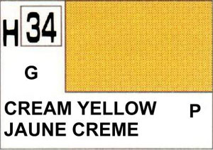 H34 Cream Yellow Gloss 10 ml
