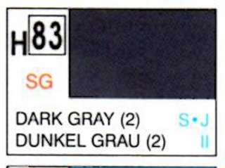 H83 Dark Gray (2) Semigloss 10 ml