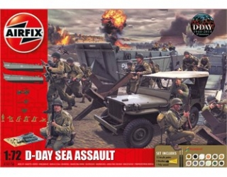 D-Day Sea Assault Gift SET; 1:72