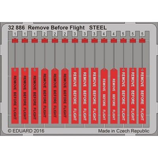 Remove Before Flight STEEL; 1:32