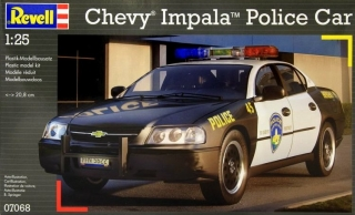 Chevy Impala Police Car; 1:24