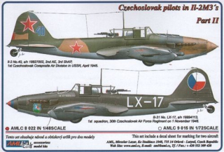 Dekály Czechoslovak pilots in Il-2 M3 Part II; 2 ks; 1:48