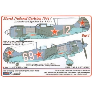 Dekály Slovak National Uprising 1944/La-5FN Part I; 2 ks.; 1:48