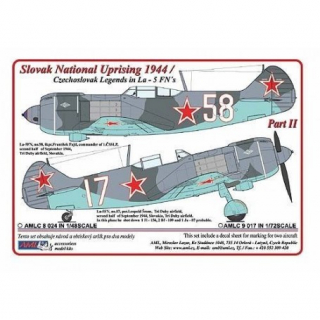 Dekály Slovak National Uprising 1944/La-5FN Part II; 2 ks.; 1:48