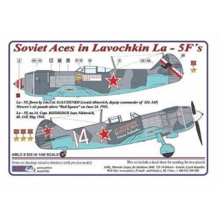 Dekály Soviet Aces in Lavochkin La-5F Part I; 2 ks.; 1:48
