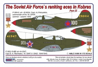 Dekály Soviet Aces in Kobras/2 ks  P-39 Part II; 1:72