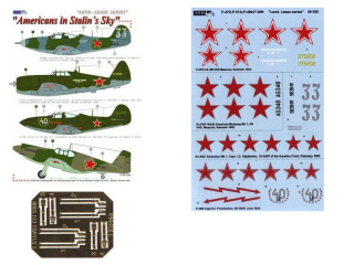 Dekály Americans in Stalin´s Sky/P-47D, P-51A, P-400, P-39N;1:48