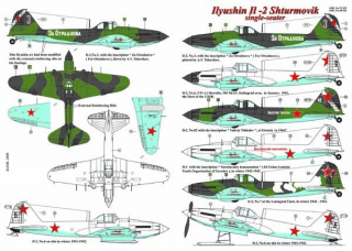 Dekály Ilyushin Il-2 Shturmovik single seater;1:48