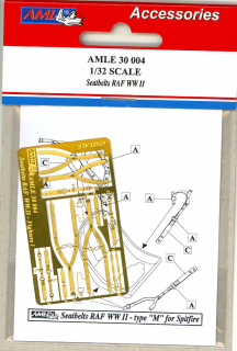 P-E diely Seatt belts RAF WWII - type M for Spitfire; 1:32