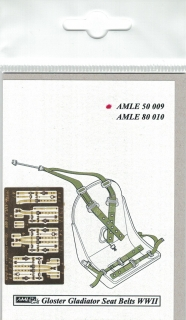P-E diely Seat belts RAF WWII Gloster Gladiator; 1:48