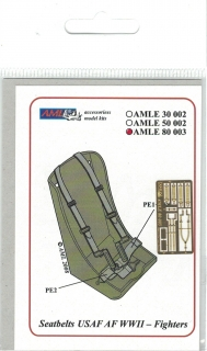 P-E diely Seat belts USAF WWII Fighters; 1:72