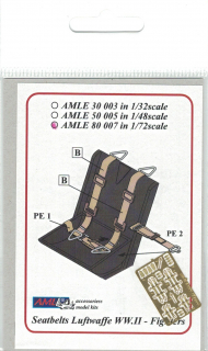 P-E diely Seatbelts Luftwaffe WW II. Fighters; 1:72